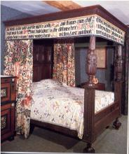 Morris' bed designed by May Morris 1892 - 1893