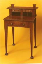 Oak Writing Desk (with back gallery) 1886